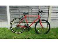 Mens red mountain bike