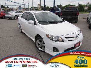 2011 Toyota Corolla XRS | SUNROOF | BLUETOOTH | ALLOYS