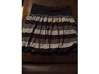 Grey striped skirt size 8