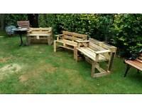 Garden benches.