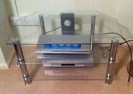 Glass TV table for sale in very good condition