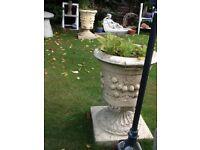Large garden stone planters