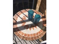 Stunning cast iron mosaic bistro table - in excellent condition