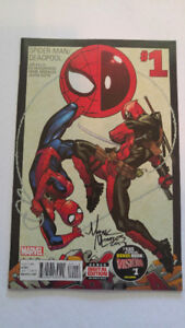 FOR SALE - Spider-Man/Deadpool #1 Signed by Mark Morales!
