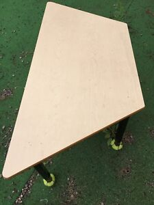 Half hexagon table