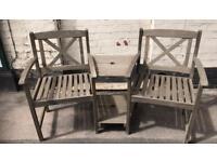 Wooden Garden Love Seat / Bench