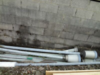 Galvanised lighting poles, assorted sizes - £40 each - 8 available