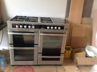 URGENT Leisure HJA5100 Silver Range cooker 5 burners with 1 Wok Burner £300