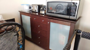 Solid Brown Long Buffet for sale