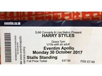 Harry Styles. Eventim Apollo. Stalls standing ticket.