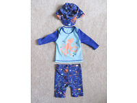 Baby Boy 3 Piece Swim Suit Set - Marks & Spencer 0-3 Months