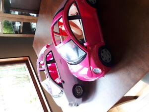 Two Barbie cars