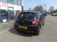 2012 12 CITROEN DS3 1.6 E-HDI DSTYLE PLUS 3D 90 BHP **** GUARANTEED FINANCE **** PART EX WELCOME ***
