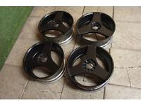 "Genuine Manaray Japan 17"" 3 Spoke Alloy wheels 5x100 & 5x114.3 Golf Polo Alloys Celica MR2 EP3"