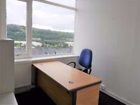Cheap rent for fully furnished office - 77 sq ft - in BD8. Includes ALL bills.