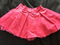 Pink frilled skirt age 9-12 months