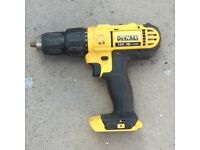 DEWALT 18V LI-ION CORDLESS COMBI DRILL, UNIT ONLY, GOOD WORKING ORDER. NO OFFERS