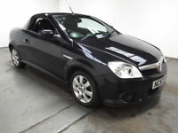 2007(57)VAUXHALL TIGRA 1.4 TWINPORT BLACK,LOW MILES,CLEAN CAR,GREAT VALUE