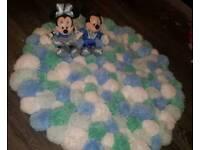 Handmade Pompom rug