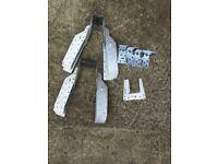 Various metal joist fasteners.