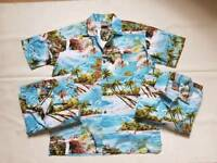 3 X MATCHING HAWAIIAN STAG NIGHT SHIRTS MEN'S MEDIUM