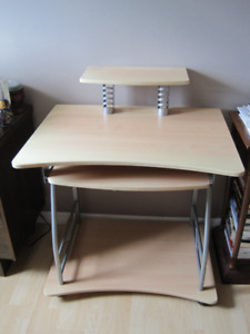 Computer desk 31 1/2 in length and 2 ft wide