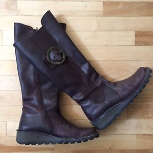 FLY London Women's Leather Boots - size 41 / 10.5