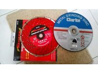 """9"""" inch Angle Grinder, Diamond and Metal cutting discs 230mm NEW"""