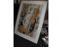 "GEORGES BRAQUE FRAMED ""CUBIST"" PRINT 4' X 3' COLLECT GLUSBURN BD20 8DW, W.YOKS near DOG & GUN PUB"