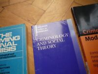 BARGAIN CRIMINOLOGY STUDY BOOKS 14 IN TOTAL USED