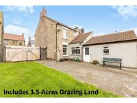 land 3.5 acre field& semidetached house for sale more land to rent