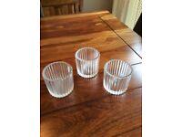 Glass tea light holders x 22