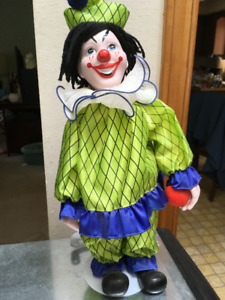 CLOWN WITH STAND-Ceramic Head, Hands and Shoes