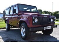 Land rover Defender 110 CSW TD5 12 seats maroon 2 owners full history low miles