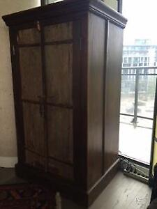 Solid Wood Cabinet - antique doors