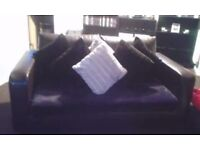 Free Two x 2 Settee Brown Leather must collect
