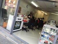 hair and beauty salon in main hounslow highstreet, running business
