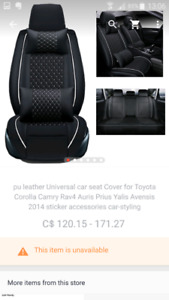 Car seat cover for toyota corolla 2014