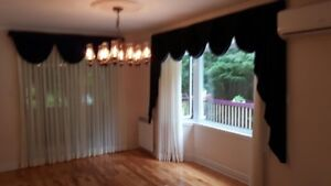 3 sets of curtains and valence