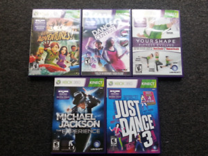 5 kinect games for xbox 360