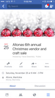 Altona's 6th annual Christmas Vendor & Craft sale