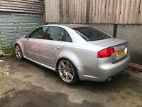 2007 plate RS 4 saloon ACCIDENT DAMAGED NEEDING REPAIRED