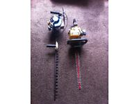 2x petrol hedge trimmers for spares