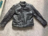 Motorbike leather jacket and trousers. Oceanic Leather. Like new.