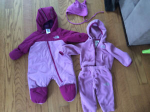 Habit mi saison North Face fille 3-6mois