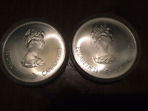 1976 Olympic 5$ silver coins