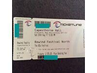 ** REWIND FESTIVAL NORTH ** VIP x2 £49 each!!!!!!!!!