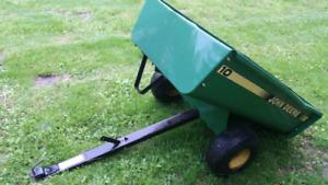 John Deere lawn tractor cart