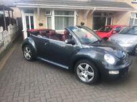 Vw beetle 1.6 DARK FLINT! Convertible! Stunning! Not Peugeot BMW merc vauxhall