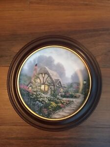 "Knowles China Company ""Chandler's Cottage"" collectible olate"
